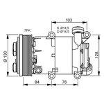 Kompressor, Klimaanlage NRF 32410