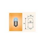 Glühlampe, Kennzeichenleuchte MAGNETI MARELLI 004627100000, 10 Stück