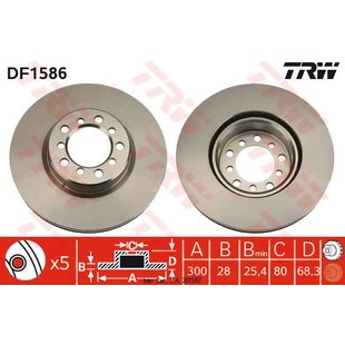 Bremsscheibe TRW DF1586, 1 Stück