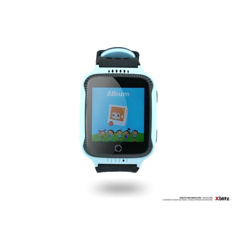 Xblitz Interaktivní dětské chytré hodinky s kamerou a GPS lokátorem, Watch Me, modrá barva