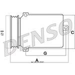 Kompressor, Klimaanlage DENSO DCP17135