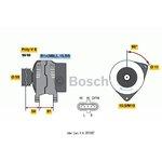 Lichtmaschine, Generator BOSCH 0 124 555 005