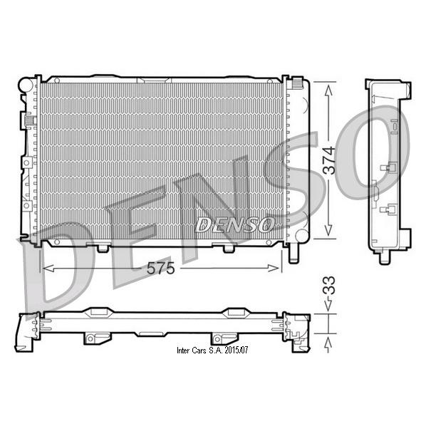 Kühler, Motorkühlung DENSO DRM17064