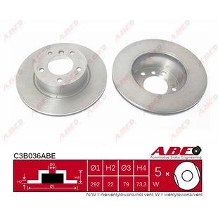 Bremsscheibe ABE C3B036ABE, 1 Stück