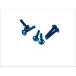 Flache 6-kantschraube M5x30 blau