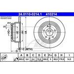 Brzdový kotouč ATE - TEVES 24.0110-0214.1