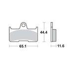 Bremsbelagsatz, Scheibenbremse LUCAS MCB756SI
