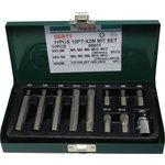 6-Kant-Schraubendrehereinsatz XZN HANS 10 mm 10 Stück (kurz und lang)