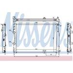 Kühler, Motorkühlung NISSENS 67361