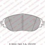 Bremsbelagsatz, Scheibenbremse DELPHI LP2250
