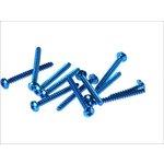 Schrauben Set 5x50 12 Stück blau