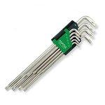 Stiftschlüsselsatz TORX TOPTUL 9Stk (T10 T15 T20 T25 T27 T30 T40 T45 T50) lang