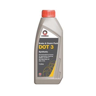 Bremsflüssigkeit DOT 3 COMMA Synthetic, 1 Liter