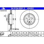 Bremsscheibe, 1 Stück ATE 24.0124-0201.2