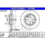 Brzdový kotouč ATE - TEVES 24.0113-0184.1