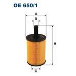 Ölfilter FILTRON OE650/1