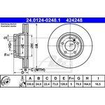 Bremsscheibe ATE 24.0124-0248.1