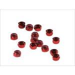 Set selbstblockierender Muttern, 15 Stück M8 rot