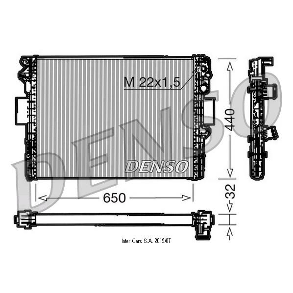 Kühler, Motorkühlung DENSO DRM12005