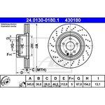 Bremsscheibe, 1 Stück ATE 24.0130-0180.1