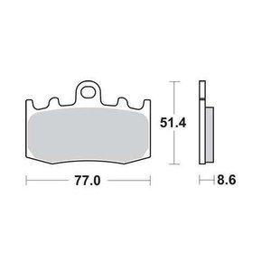 Bremsbelagsatz, Scheibenbremse LUCAS MCB748