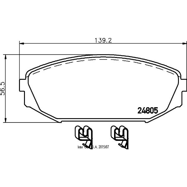 Bremsbeläge, Scheibenbremse TEXTAR 2480501