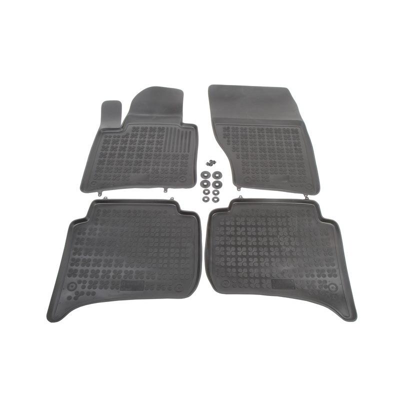 REZAW-PLAST Gumové koberce, černé, sada 4 ks (2x přední, 2x zadní), Porsche Cayenne, VW Touareg od 01.2010