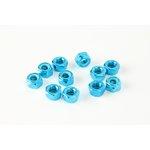 Set selbstblockierender Muttern, 15 Stück M8 blau