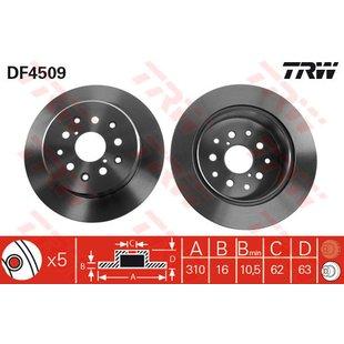 Bremsscheibe TRW DF4509, 1 Stück