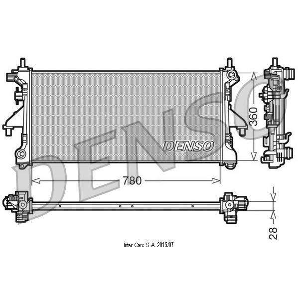 Kühler, Motorkühlung DENSO DRM21101