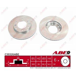 Bremsscheibe ABE C30326ABE, 1 Stück
