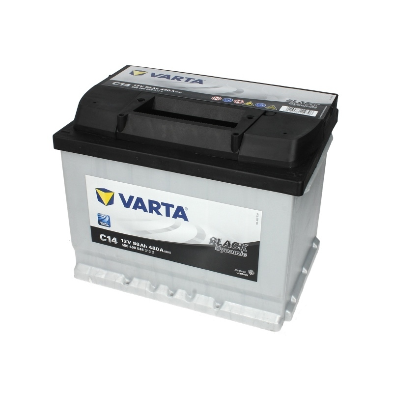 Autobaterie VARTA Black Dynamic 12V 56Ah 480A, 556 400 048