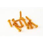 Schraube M6/30 12 Stück Aluminium orange
