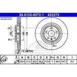 Bremsscheibe, 1 Stück ATE 24.0122-0272.1