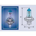 MAGNETI MARELLI Žárovka typ H4, 12V, 60/55W, Blue Light, 002602100000
