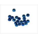 Set selbstblockierender Muttern, 20 Stück M6 blau