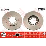 Bremsscheibe, 1 Stück TRW DF3001