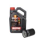 Motoröl mit Ölfilter MOTUL 8100 X-CLEAN FE 5W30 5L + BOSCH 0 451 103 314