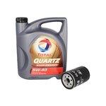 Motoröl mit Ölfilter TOTAL Quartz 9000 Energy 5W40 5L + KNECHT OC 47 OF