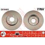 Bremsscheibe, 1 Stück TRW DF4465
