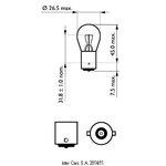 Žárovka P21W 12V PHILIPS 12498/10, - 10 ks v balení