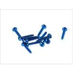 Schrauben Set 5x30 12 Stück blau
