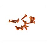 Schraube M5/20 12 Stück Aluminium orange
