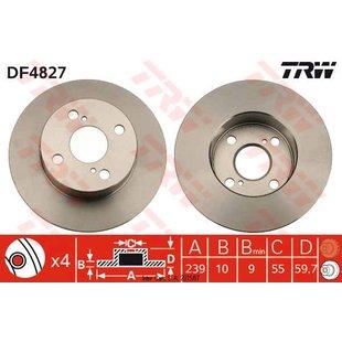 Bremsscheibe TRW DF4827, 1 Stück