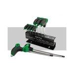 Stiftschlüsselsatz TORX TOPTUL 9Stk T10 T15 T20 T25 T27 T30 T40 T45 T50 T-Griff