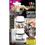 SUPER METAL 4 hliníková epoxidová pasta 2x40g, opravy trhlin a úniků, vany ol., klouby, hřídele TECHNICQLL TE E-020 80 G