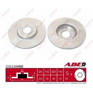 Bremsscheibe ABE C31110ABE, 1 Stück