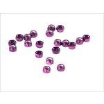 Set selbstblockierender Muttern, 20 Stück M5 violett