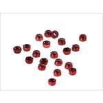Set selbstblockierender Muttern, 20 Stück M5 rot