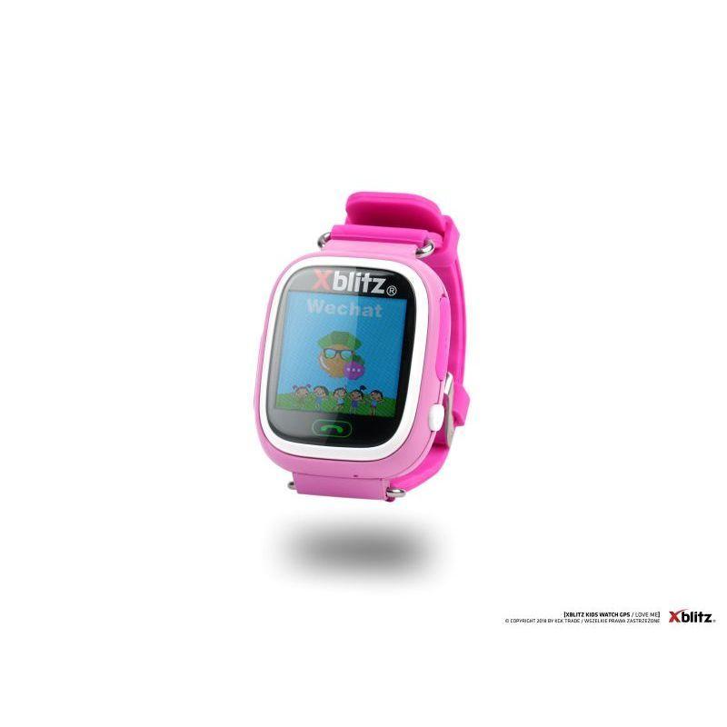 Xblitz Interaktivní dětské chytré hodinky s WiFi a GPS lokátorem, Love Me, růžová barva